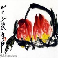 近现代中国绘画大师齐白石水墨画集(四)