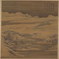 高凤翰雪景山水图轴--清朝-山水-中国古代山水绘画作品