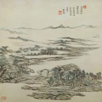 王原祁昌黎诗意图轴-清朝-山水-中国古代山水绘画作品