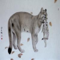 谢呈祥工笔画-老虎动物赏析