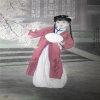 谢呈祥工笔画-十二金钗美女画集赏析
