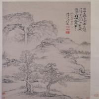 程邃山水图轴-清朝-山水-中国清朝山水画作品