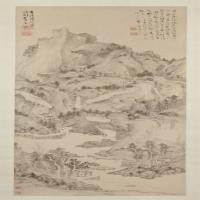 程正揆山水图轴-清朝-山水-中国清朝山水画作品