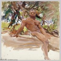【打印级】SCR190845077-约翰萨金特John Singer Sargent美国肖像画家水彩画家绘画作品集萨金特水彩作品