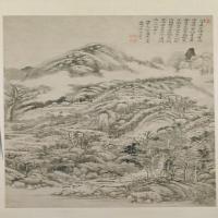 王时敏虞山惜别图轴-清朝-山水-中国清朝山水画赏析