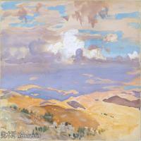 【打印级】SCR190845079-约翰萨金特John Singer Sargent美国肖像画家水彩画家绘画作品集萨金特水彩作品