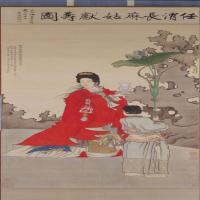 任熊麻姑献寿图轴-清朝-人物-中国古代人物绘画作品