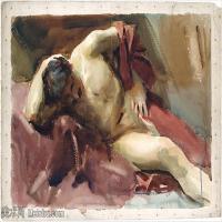 【打印级】SCR190845084-约翰萨金特John Singer Sargent美国肖像画家水彩画家绘画作品集萨金特水彩作品