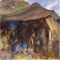 【打印级】SCR190845078-约翰萨金特John Singer Sargent美国肖像画家水彩画家绘画作品集萨金特水彩作品