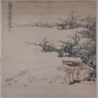 黄慎伯乐相马图轴-清朝-人物-中国古代人物绘画作品