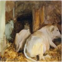 【打印级】SCR190845081-约翰萨金特John Singer Sargent美国肖像画家水彩画家绘画作品集萨金特水彩作品