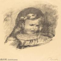 【打印级】SMR19154650-皮埃尔奥古斯特雷诺阿Pierre Auguste Renoir法国印象派重要画家雷诺阿印象派素描作品集 Claude Renoir, head lowered-21M