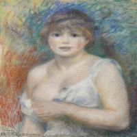 【打印级】YHR191548310-皮埃尔奥古斯特雷诺阿Pierre Auguste Renoir法国印象派重要画家雷诺阿印象派油画作品集PORTRAIT DE JEANNE SAMARY-22M-2