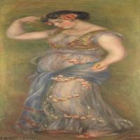 【打印级】YHR191548300-皮埃尔奥古斯特雷诺阿Pierre Auguste Renoir法国印象派重要画家雷诺阿印象派油画作品集 Dancing Girl with Castanets fr