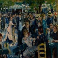 【超顶级】YHR191548473-皮埃尔奥古斯特雷诺阿Pierre Auguste Renoir法国印象派重要画家雷诺阿印象派油画作品集 DanceatLeMoulindelaGalette-191
