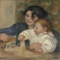 【超顶级】YHR191548462-皮埃尔奥古斯特雷诺阿Pierre Auguste Renoir法国印象派重要画家雷诺阿印象派油画作品集AugusteRenoirGabrielleandJean-1
