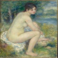 【超顶级】YHR191548469-皮埃尔奥古斯特雷诺阿Pierre Auguste Renoir法国印象派重要画家雷诺阿印象派油画作品集FemmeNuedansunPaysage,by,fromC2