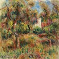 【打印级】YHR191548302-皮埃尔奥古斯特雷诺阿Pierre Auguste Renoir法国印象派重要画家雷诺阿印象派油画作品集 PAYSAGE à LA CABANE-21M-3201X2