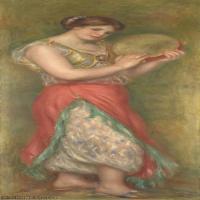 【打印级】YHR191548306-皮埃尔奥古斯特雷诺阿Pierre Auguste Renoir法国印象派重要画家雷诺阿印象派油画作品集 Dancing Girl with Tambourine f