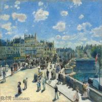【超顶级】YHR191548464-皮埃尔奥古斯特雷诺阿Pierre Auguste Renoir法国印象派重要画家雷诺阿印象派油画作品集AugusteRenoirPontNeuf,Paris-134