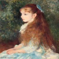 【超顶级】YHR191548471-皮埃尔奥古斯特雷诺阿Pierre Auguste Renoir法国印象派重要画家雷诺阿印象派油画作品集雷诺阿 少女伊莲1880  (2)-342M-9788X122