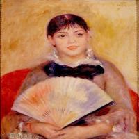 【超顶级】YHR191548465-皮埃尔奥古斯特雷诺阿Pierre Auguste Renoir法国印象派重要画家雷诺阿印象派油画作品集RenoirPierreAugusteGirlwithaFan