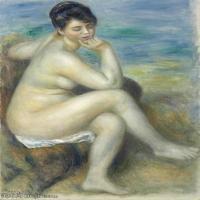 【打印级】YHR191548309-皮埃尔奥古斯特雷诺阿Pierre Auguste Renoir法国印象派重要画家雷诺阿印象派油画作品集BAIGNEUSE ACCOUDéE-21M-2395X320