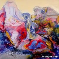 曾红捷油画抽象山水系列(2015年)