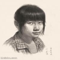 【印刷级】SM-10123251-素描头像美术高考素描优秀试卷八大美院男青年女青年高清图片-83M-4144X5257