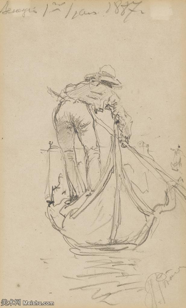 【打印级】SMR14154404-俄罗斯画家列宾Ilya Repin手绘素描速写作品图片素描手稿高清图片资料-27M-2