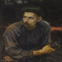 【印刷级】YHR15105442-列宾Ilya Repin经典油画作品高清图片人物肖像油画作品图片素材写实派画家油画作品大图-55M-3860X5000