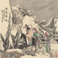 【超顶级】MSH1045民俗画踏雪寻梅杨柳青年画人物雪地梅花图片-103M-6427X4042_1529765