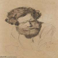 【打印级】SMR14154403-俄罗斯画家列宾Ilya Repin手绘素描速写作品图片素描手稿高清图片资料-31M-2759X4000