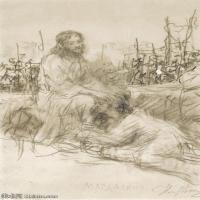 【欣赏级】SMR14154411-俄罗斯画家列宾Ilya Repin手绘素描速写作品图片素描手稿高清图片资料-7M-1326X1999