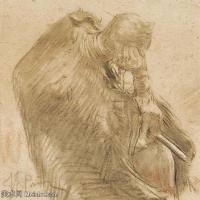 【欣赏级】SMR14154405-俄罗斯画家列宾Ilya Repin手绘素描速写作品图片素描手稿高清图片资料-10M-2000X1870