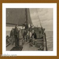 【超顶级】SM9196331-名作底稿-帆船只甲板阅读海员高清图片-145M-8823X5773