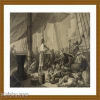 【超顶级】SM9196323-名作底稿-帆船只甲板人群小提琴演奏高清图片-156M-8631X6353