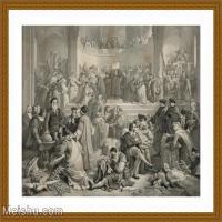 【超顶级】SM9196470-名作底稿-古希腊议会人群祭祀高清图片-124M-7249X6007