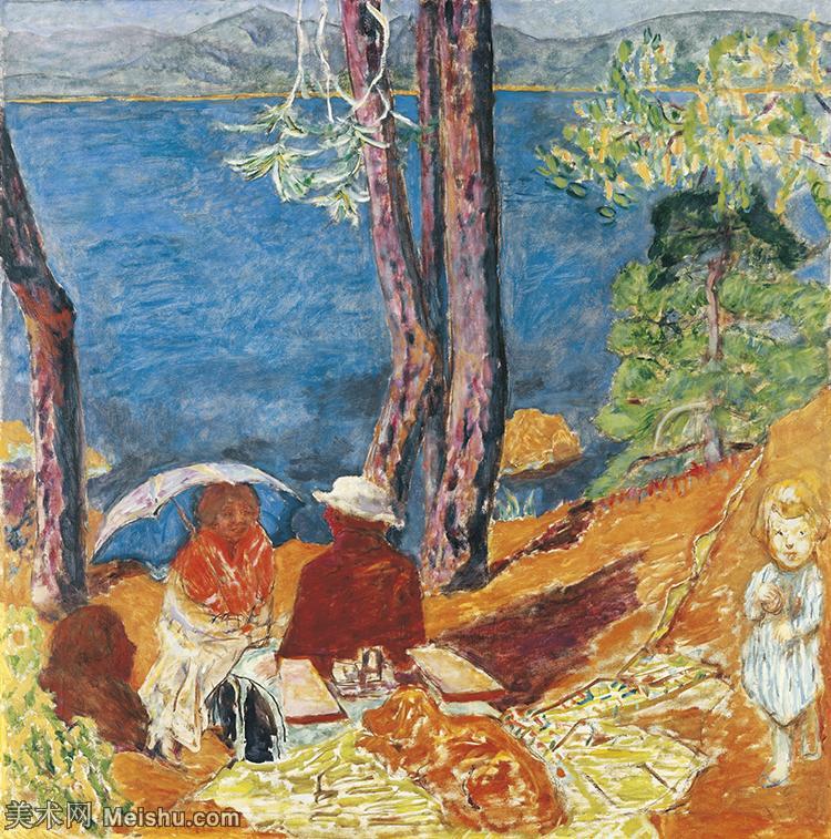 【欣赏级】YHR15113134-法国著名画家皮埃尔博纳尔Pierre Bonnard纳比派风景油画人物油画作品高清图片