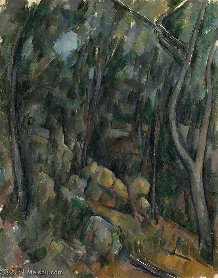 【打印级】YHR151617101-法国著名画家保罗塞尚Paul Cézanne印象派油画作品高清图片塞尚静物画塞尚风景