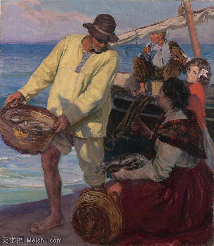 【欣赏级】YHR151115053-西班牙印象派画家华金索joaquinsolomon罗拉油画作品高清晰图抽象风景油画世