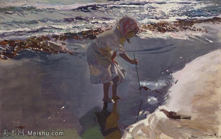 【欣赏级】YHR151115022-西班牙印象派画家华金索joaquinsolomon罗拉油画作品高清晰图抽象风景油画世