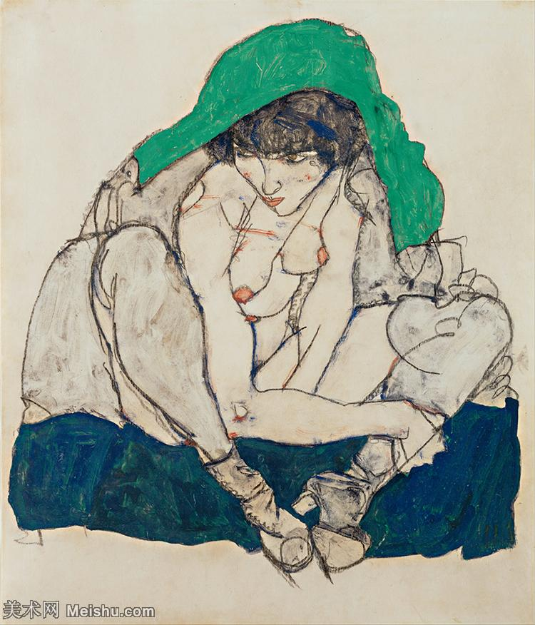 【印刷级】YHR151608119-奥地利绘画大师埃贡席勒 Egon Schiele油画作品高清大图席勒绘画作品高清图片
