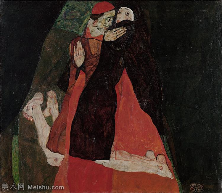 【印刷级】YHR151608120-奥地利绘画大师埃贡席勒 Egon Schiele油画作品高清大图席勒绘画作品高清图片