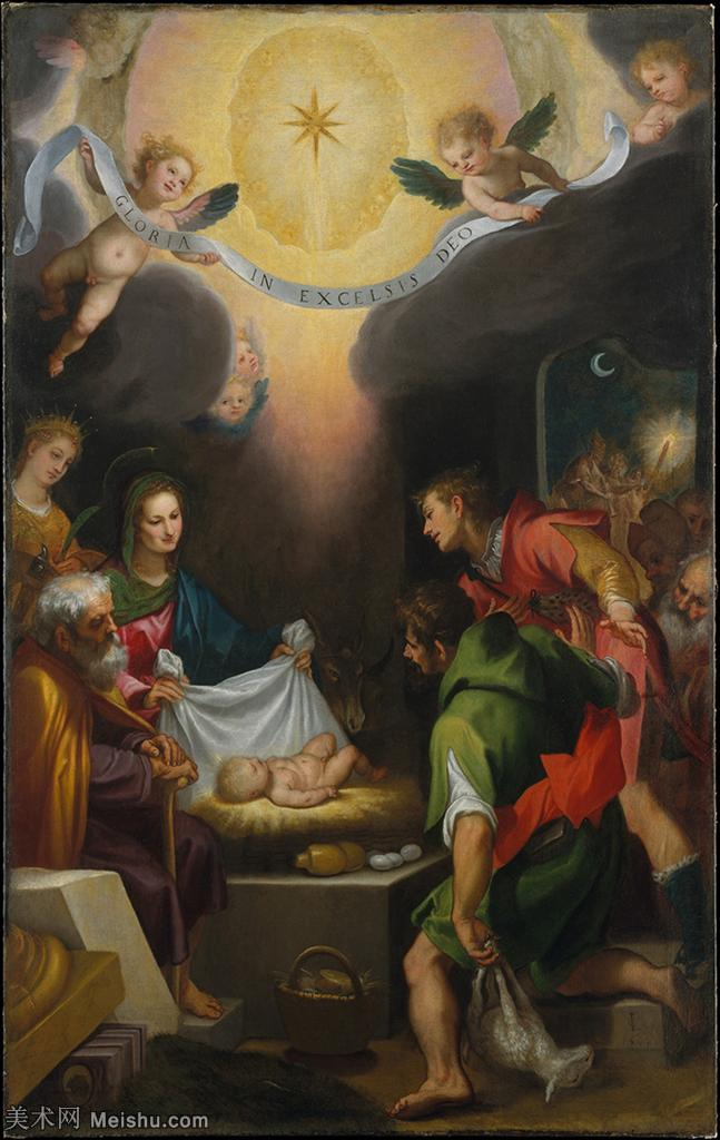 【打印级】YHR15114006-意大利画家卡拉瓦乔Caravaggio油画人物高清图片The Adoration of