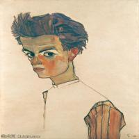 【印刷级】YHR151608107-奥地利绘画大师埃贡席勒 Egon Schiele油画作品高清大图席勒绘画作品高清图片-47M-3397X4901