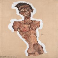 【印刷级】YHR151608106-奥地利绘画大师埃贡席勒 Egon Schiele油画作品高清大图席勒绘画作品高清图片-46M-3346X4843