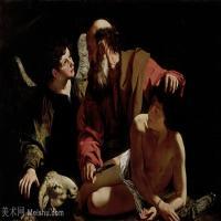 【印刷级】YHR15114045-意大利画家卡拉瓦乔Caravaggio油画人物高清图片Sacrifice of Isaac (c._1603)-76M-6233X4285
