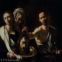 【印刷级】YHR15114029-意大利画家卡拉瓦乔Caravaggio油画人物高清图片Salome with the Head of John the Baptist (1610)-42M-4199
