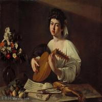 【欣赏级】YHR15114001-意大利画家卡拉瓦乔Caravaggio油画人物高清图片Lute Player (1596)-18M-2904X2281